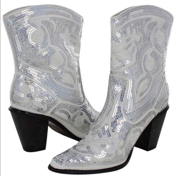 los angeles clearance reputable site Sequin sparkly Cowboy Boots